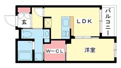 エスティメゾン神戸三宮 303の間取