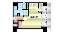 パシフィックレジデンス神戸八幡通 1304の間取
