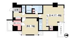 ルネ神戸旧居留地109番館 301の間取