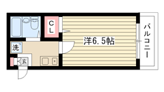 キャンパス2000鈴蘭台Ⅱ 105の間取