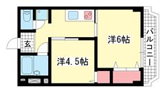 シルフィードARATA(旧:吉田マンション 503の間取