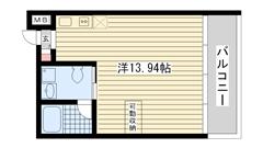 ロイスグラン神戸湊川公園 D411の間取