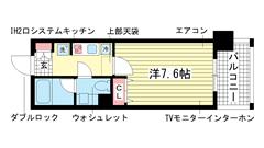インベスト神戸エアフロント 505の間取