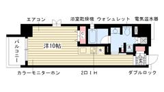 レジディア神戸磯上 G-409の間取