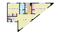 第6スカイマンション 202の間取