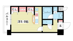 KAISEI新神戸第2WEST 910の間取