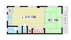 エクセル神戸 302の間取
