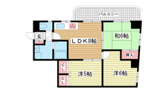 サンヴィラ六甲道パートⅢ 204の間取