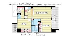 リーガル神戸三宮 1303の間取
