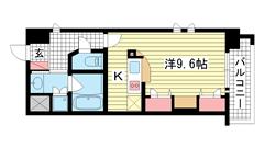 KAISEI新神戸第2WEST 713の間取