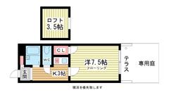 三木HOUSE 102の間取