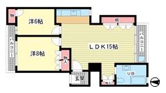 ニュー神戸マンション 2Eの間取