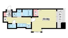 エスティ・ロアール神戸駅前 1301の間取
