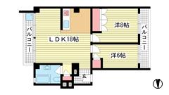 ニュー神戸マンション 2Dの間取