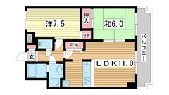 リーガル神戸元町 704の間取