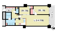 ワコーレ神戸灘タワー 2204の間取