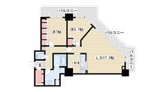 アーバンライフ神戸三宮ザ・タワー 2309の間取