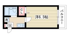 キャンパス2000鈴蘭台Ⅱ 101の間取
