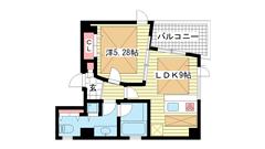 POCO A POCO 三宮ハイタワー 1001の間取
