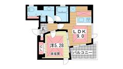 POCO A POCO 三宮ハイタワー 602の間取
