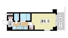 エステムコート神戸ハーバーランド前 206の間取