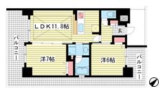 エステムプラザ神戸西Ⅴミラージュ 506の間取