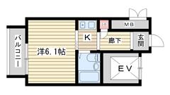 アルテハイム神戸・県庁前 302の間取