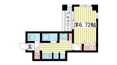 ウィンテージ神戸元町 1204の間取