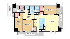 ローレルコート神戸元町 3Fの間取