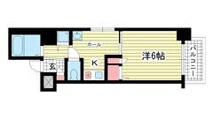 プレサンス神戸駅前 205の間取