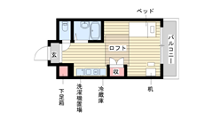 神戸女子学生会館 19**の間取