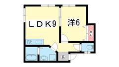 サンシャイン新神戸 202の間取