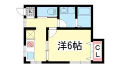 サンシャイン新神戸 201の間取