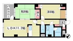 リバーコート湊川Ⅱ 207の間取