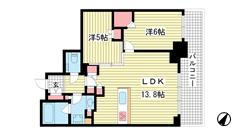 シティタワー神戸三宮 1310の間取