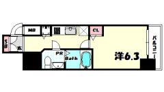 Lala place三宮東アスヴェル 201の間取
