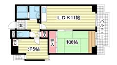 ホロン・コート神戸 502の間取