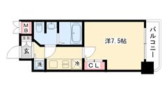 S-RESIDENCE神戸磯上通 E2-204の間取