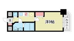 S-RESIDENCE神戸磯上通 608の間取