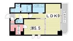 S-RESIDENCE神戸磯上通 614の間取