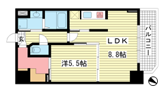 S-RESIDENCE神戸磯上通 1314の間取