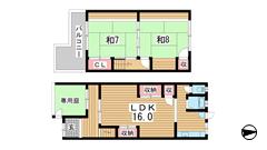 湊川町10丁目貸家 1-2の間取