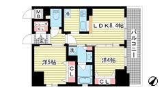 エステムプラザ神戸・大開通ルミナス p1101の間取