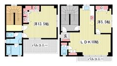 佳山ビル 4F.5Fの間取