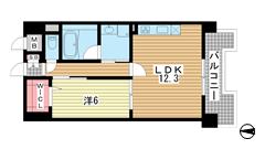 L・Isobe三宮 812の間取