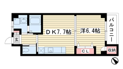 夢野アパートメント 105の間取