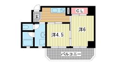 モアライフ神戸 304の間取
