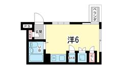 エステート神戸 203の間取