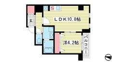 WELLBEAR新神戸 301の間取