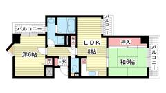 ライオンズマンション神戸西元町第2 803の間取